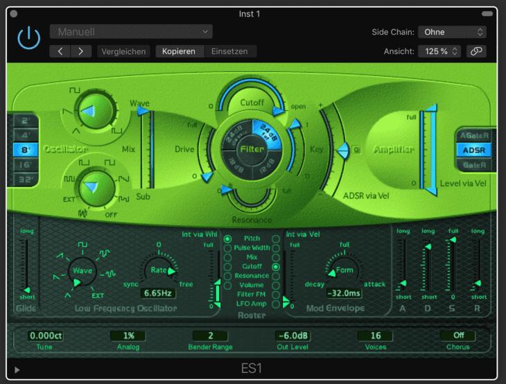 Apple Logic Pro X ES1 Software-Synthesizer
