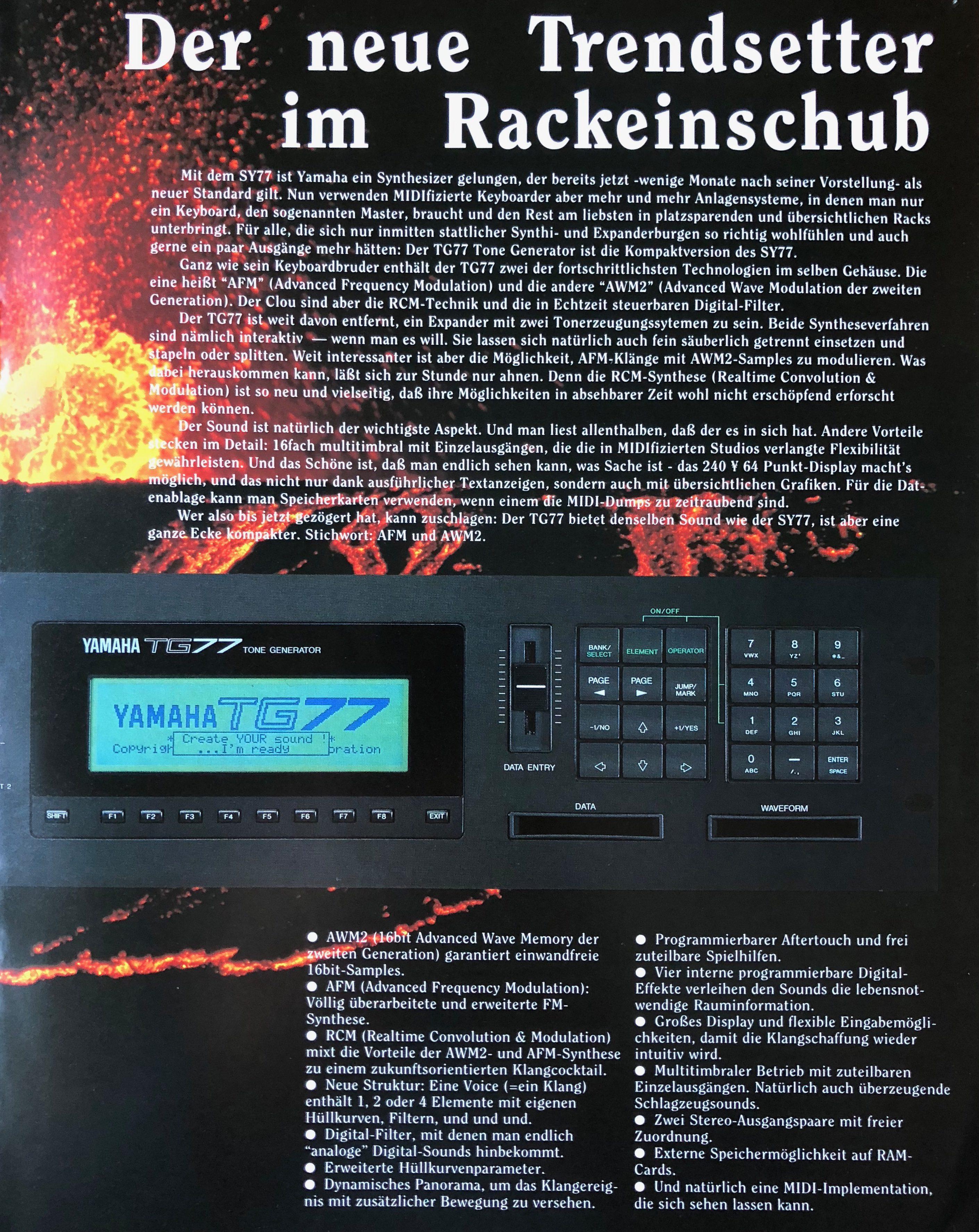 Green Box: Yamaha SY77, TG77 und SY99 - AMAZONA de