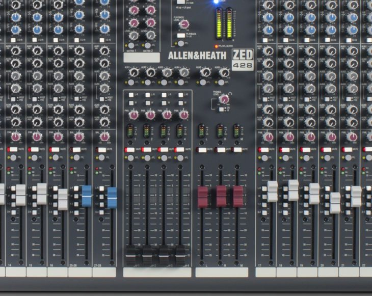 allen heath zed 428 subgruppe workshop recording