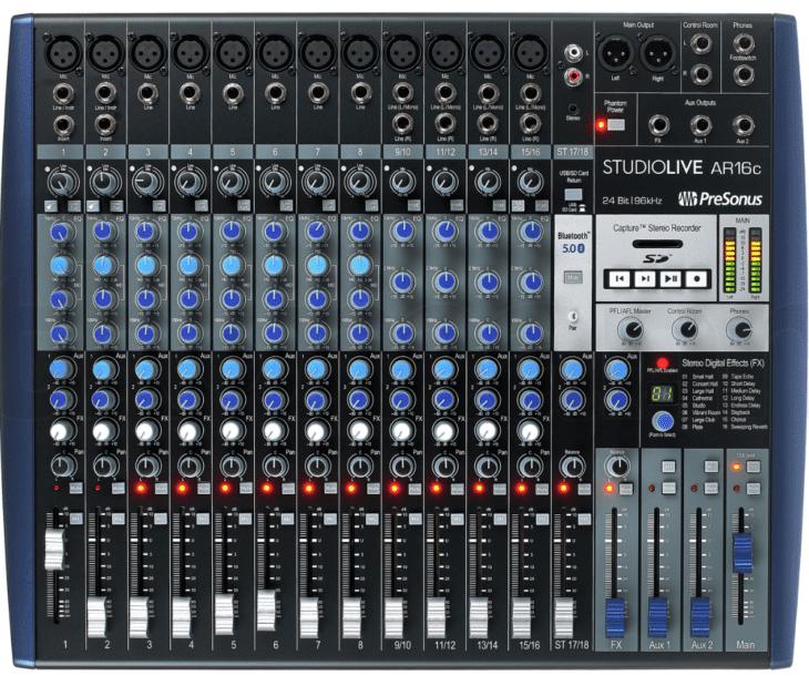 presonus studio live ar16c recording workshop
