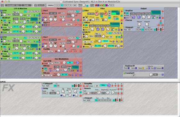So sieht ein Nord G2 Patch im Editor aus.