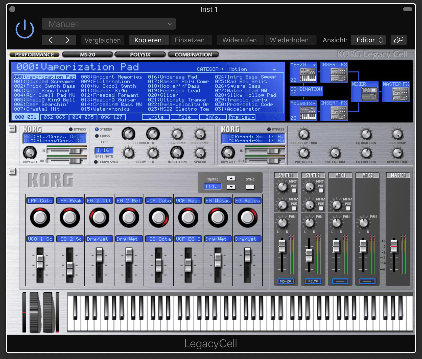 Test: Korg Legacy MS-20, Polysix und Wavestation VST