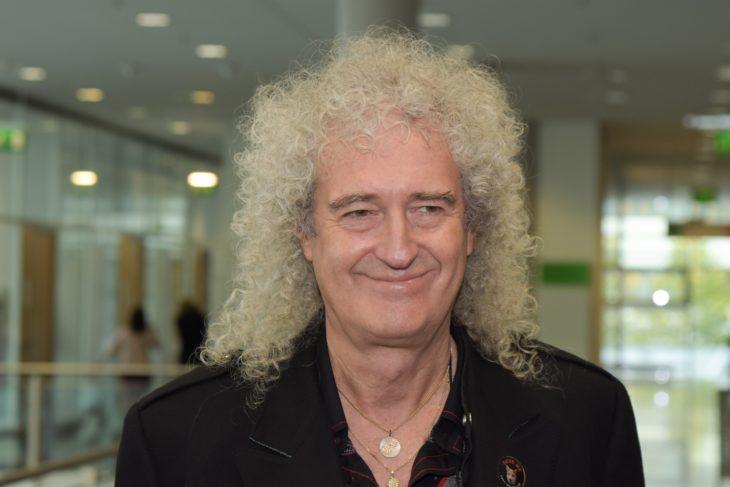 Brian May laughing