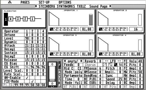 Steinberg Synthworks TX81Z Editor Atari