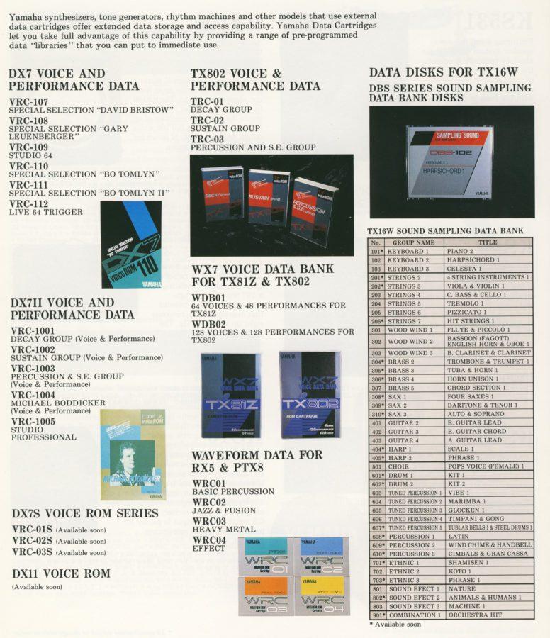 Yamaha DX-7 FM Synthesizer