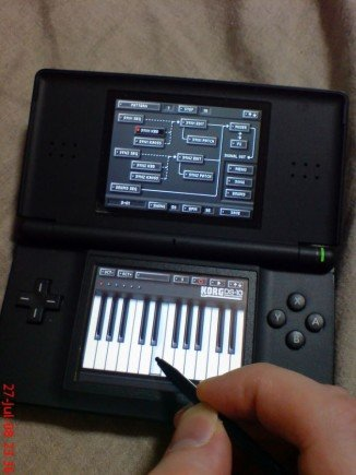 Nintendo DS-Lite und Korg DS-10 Hands-on