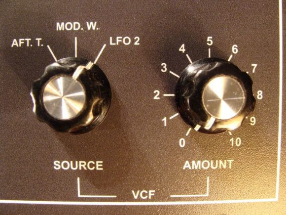 VCF Modulations-Features in der LFO2-Sektion