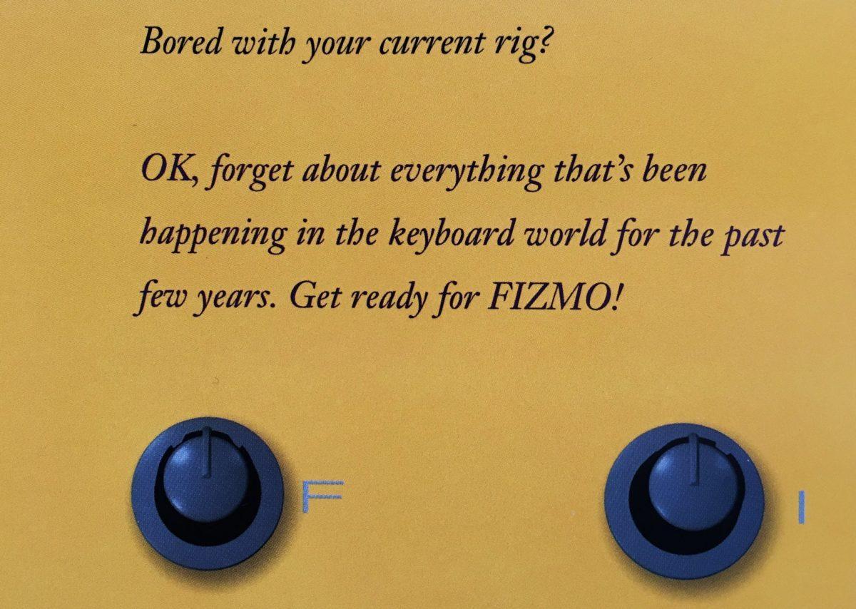 Vollmundige Werbeaussage zum FIZMO 1998