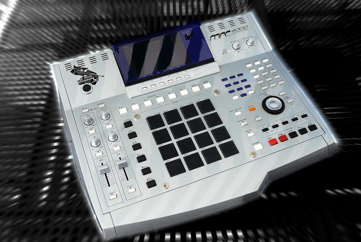 Die AKAI MPC4000 in einer Custom-Version