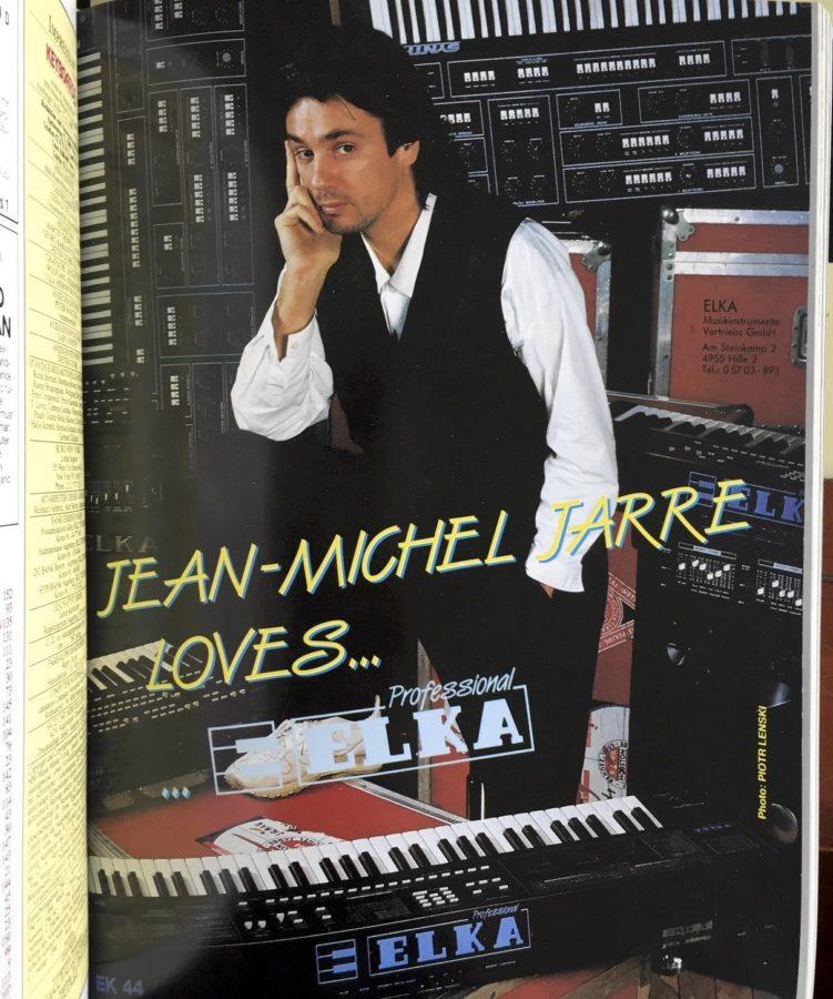 1987 wirbt Elka mit Jean Michel Jarre