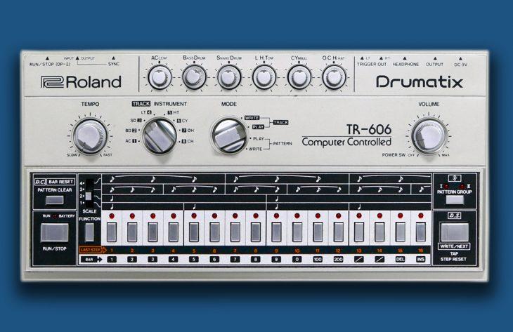 Der analoge Roland TR-606 Drumcomputer von 1981