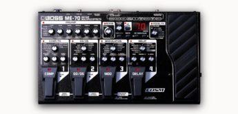Test: Boss ME-70, Gitarren Multi-Effektgerät