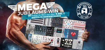 Jubiläums-Gewinnspiel: 30 Eurorack-Synthesizer für 8.000,- Euro