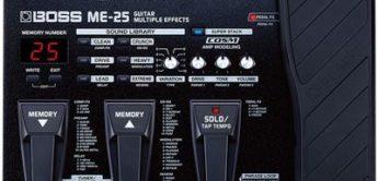 Test: BOSS, ME-25, Gitarren-Multieffektgerät