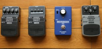 Test: Behringer Chorus Space-C CC300, Space-D CD400, Vintage Delay VD400, Phaser PH9