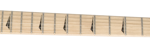 -- Maple Neck mit Thorn-Inlays --