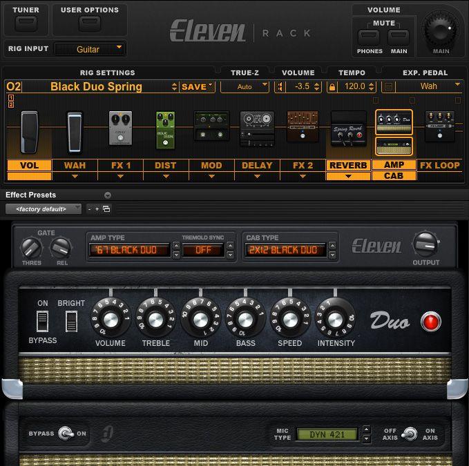 Avid Eleven Rack Guitar Amp Cabinet Effects Modeler With
