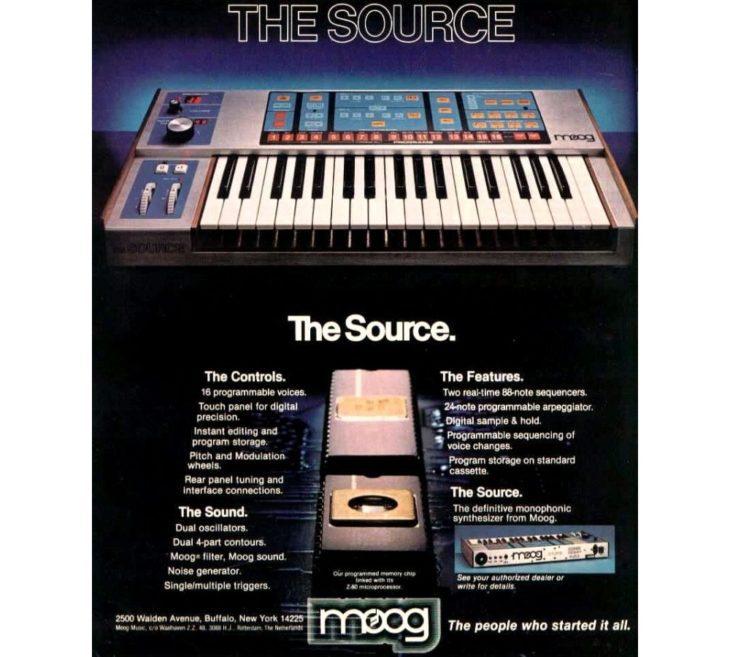 Moog Source Werbeanzeige
