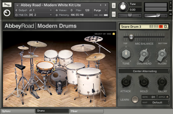 NI Abbey Road Modern Drums White Kit