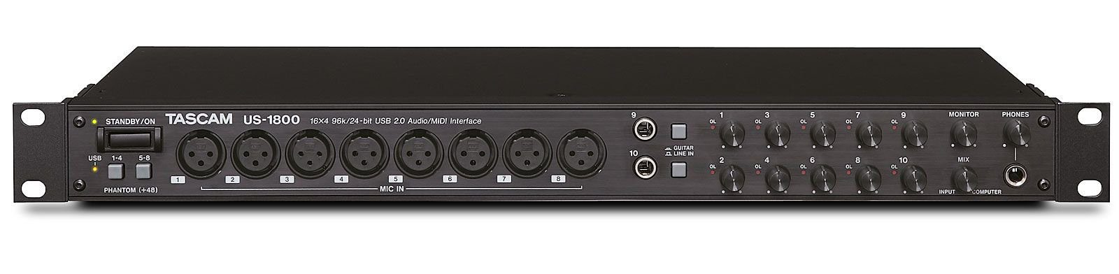 test tascam us 1800 audio interface. Black Bedroom Furniture Sets. Home Design Ideas