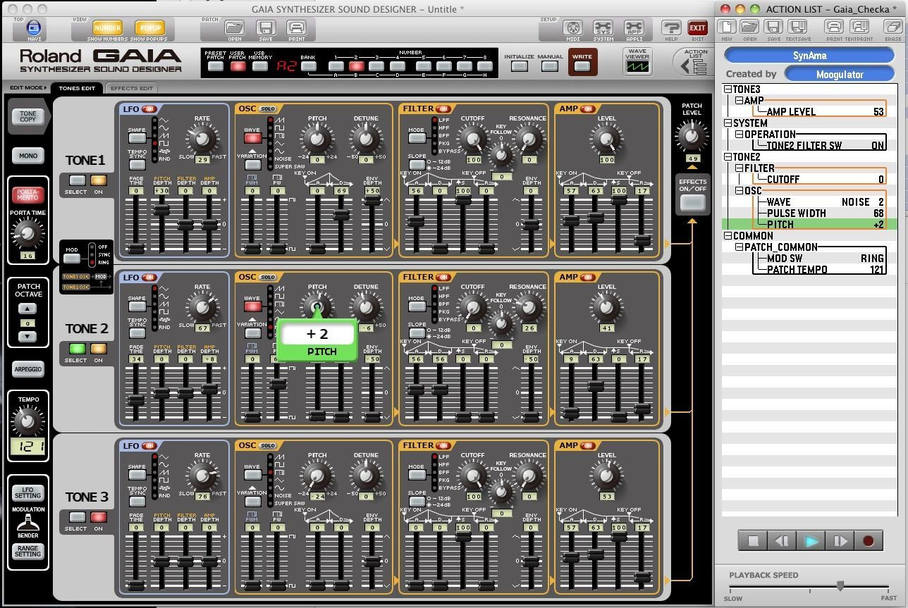 Test Roland Gaia Sound Designer Editor Software Amazona De