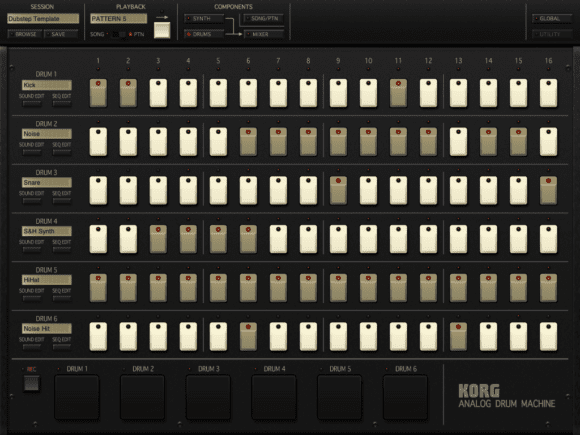 Korg iMS-20 - Drum Sequencer