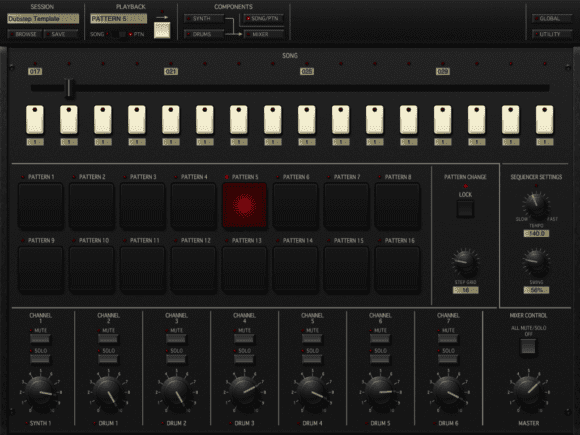 Korg iMS-20 - Pattern-Editor