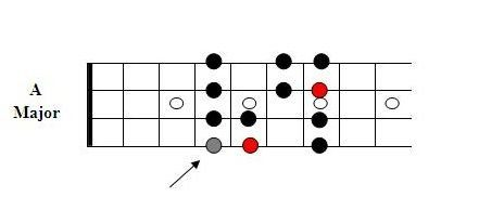 Major Scale Shape komplett