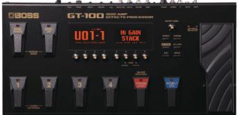 Test: BOSS GT-100, Multieffektgerät für E-Gitarre