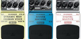 Vergleichstest: Behringer, FX600, DW400 und RV600, Gitarren-Effektpedale