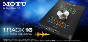 Top News: MOTU Track 16 – 16×14-Desktop-Studio-Interface