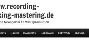 Neue Webseite www.recording-mixing-mastering.de