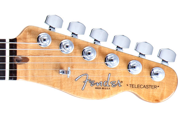-- Headstock mit den Locking-Mechaniken --