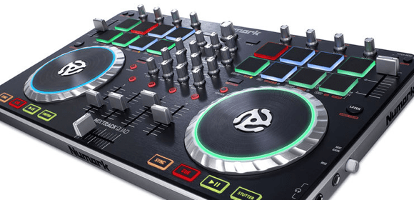 test numark mixtrack quad dj controller. Black Bedroom Furniture Sets. Home Design Ideas