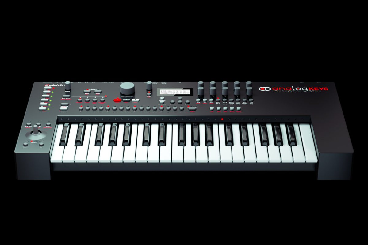 Analog-Keys-By-Elektron-Front-Angle-View-Black