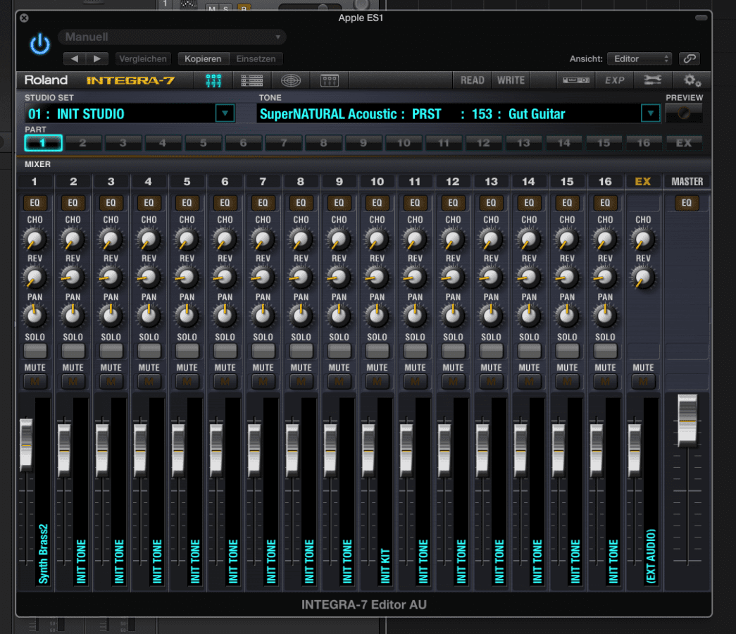 Der Mixer Screen im neuen VST/AU Plug-Im