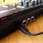 USB-, Pedal- und MIDI-Anschlüsse