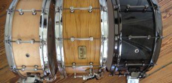 Test: Tama Sound Lab Snare Drums LMP1455ATM, LMB1465-MMB, LBO147-MTO