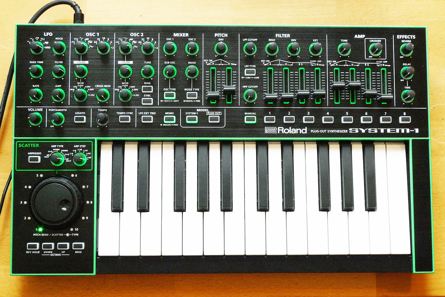 Roland SH-101 Samples and Filter CV Mod - click on