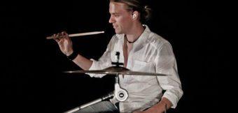 Dirk Sandoz auf der NAMM Show 2015 mit Dave Smith