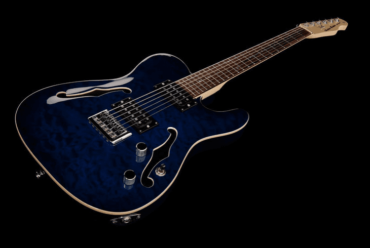 Test: Harley Benton TE-90QM HH Trans Blue, E-Gitarre - AMAZONA.de