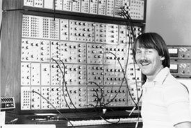 Dave infront of the E-MU Modular System (1984/1985)