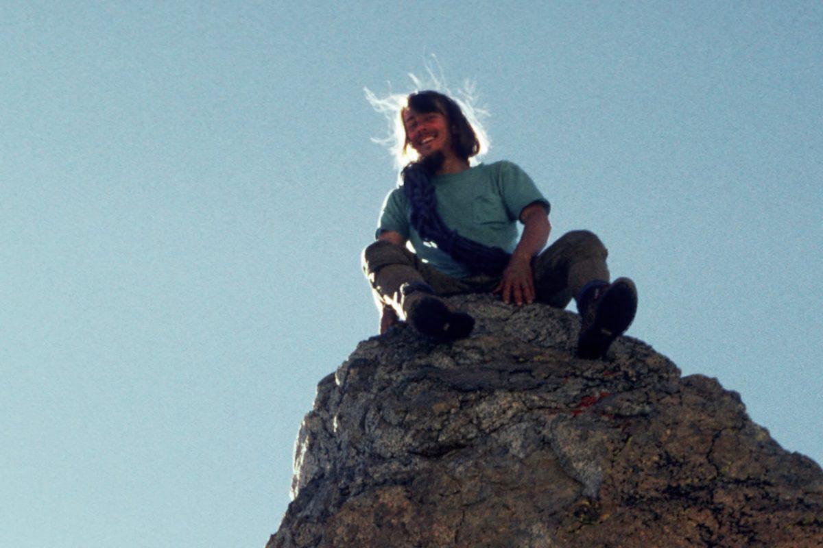 Der junge Dave Rossum im Sommer 1971 während eines Kletterseminars.