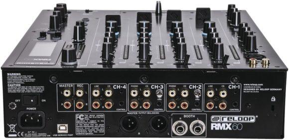 Die vielen Anschlussmöglichkeiten machen den RMX 60 zu einem sehr flexiblen Clubmixer