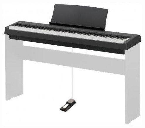 Alle drei Pianos werden mit Haltepedal, Bedienungsanleitung und Notenständer ausgeliefert