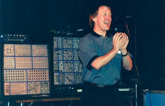 """Dave 1997 during the 25h anniversary together with his """"modulars"""""""
