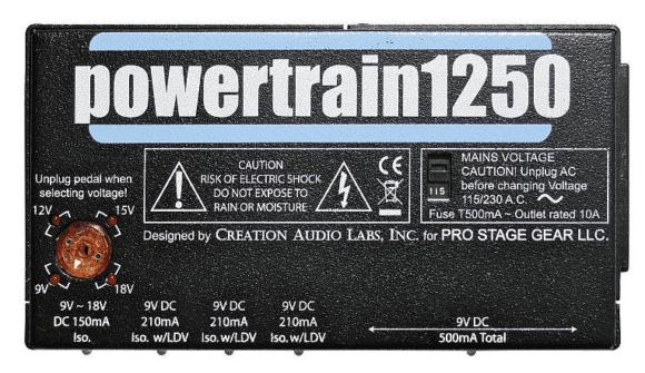Pedaltrain Powertrain 1250 Top