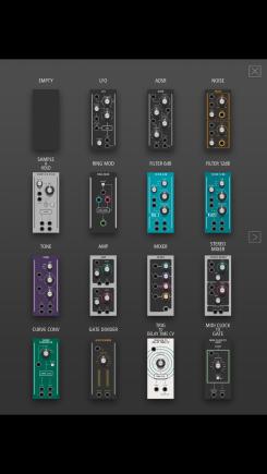 Roland AIRA Modular Customizer Modulauswahl