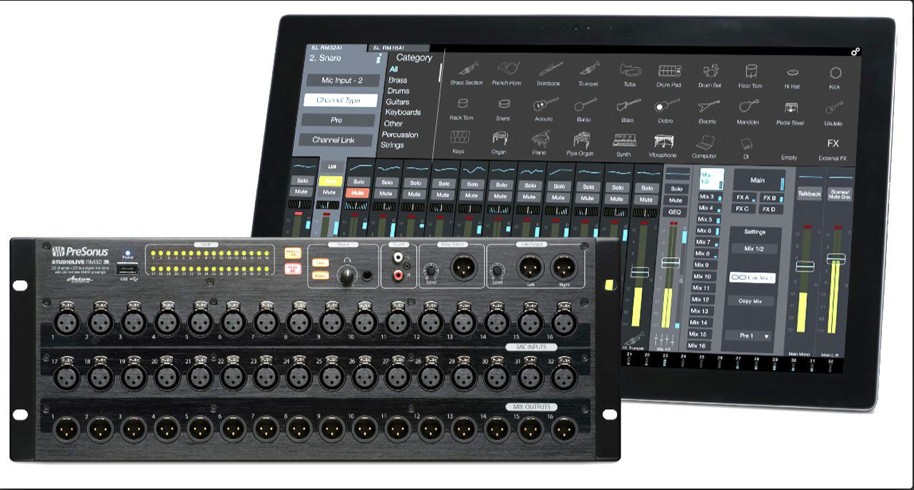 test presonus studiolive rm32ai digitalpult. Black Bedroom Furniture Sets. Home Design Ideas