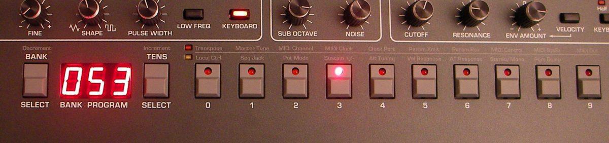 Prophet 6 Program Select Buttons